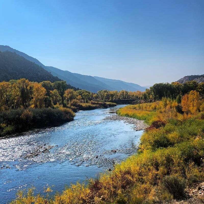 Fall River Scenery in Colorado